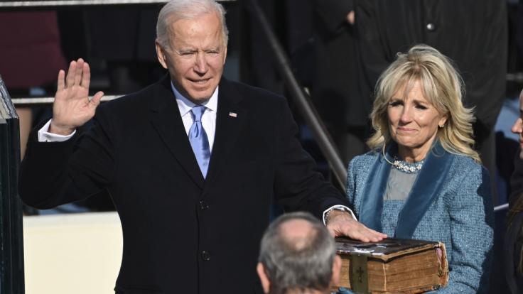 Joe Biden ist als 46. Präsident der Vereinigten Staaten von Amerika vereidigt worden. (Foto)