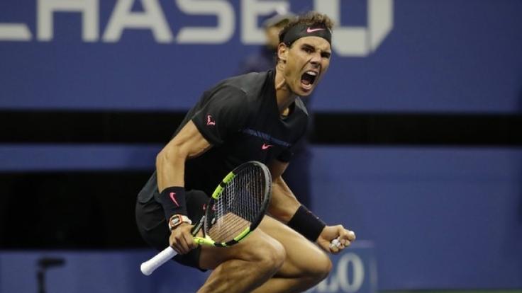Rafael Nadal kürt sich zum US-Open-Sieger. (Foto)