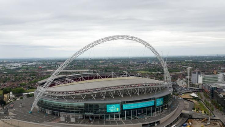 Das Wembley-Stadion in London vor dem FA-Cup-Finale zwischen dem FC Arsenal und dem FC Chelsea am 27. Mai 2017.