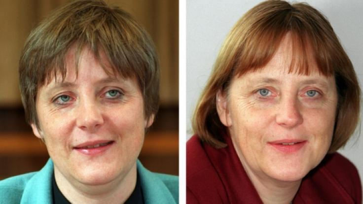 Angela Merkels Frisur (und Look) im Laufe der Jahre.