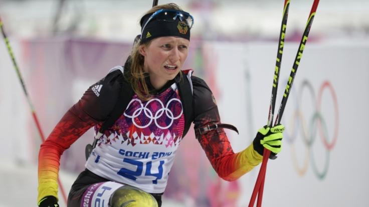 Franziska Hildebrand gehört zur Mixed-Staffel der deutschen Biathleten.