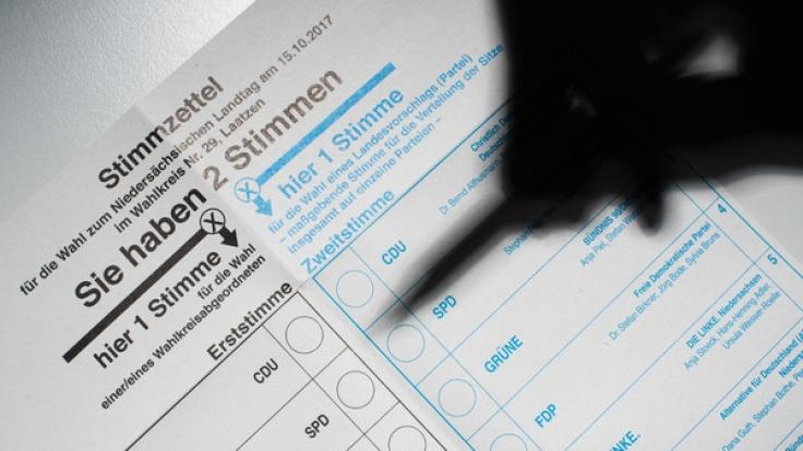 Landtagswahl in Niedersachsen am 15. Oktober 2017.