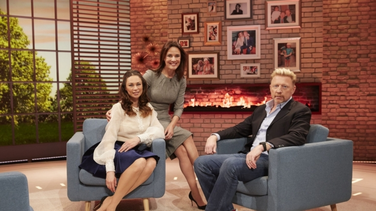 Désirée Nosbusch mit Boris und Lilly Becker (l.)