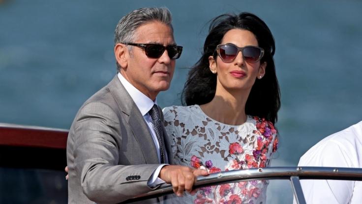 George und Amal Clooney bei ihrer Hochzeitsreise im September 2014.