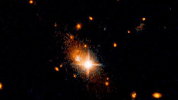 Ein Schwarzes Loch rast durchs All. (Foto)