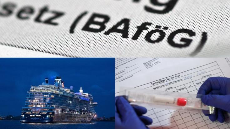 Im August 2020 treten Gesetzesänderungen zu Bafög, Corona-Tests und Kreuzfahrtreisen in Kraft. (Foto)