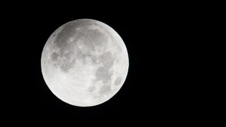 Der Vollmond taucht in den Schatten der Erde ein. (Foto)