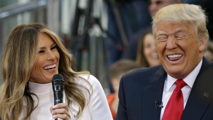 Donald Trump machte sich über Melania lustig.