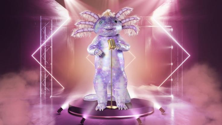 """Aus dem Aquarium auf die Showbühne: Das Axolotl ist eine von zehn Masken in der fünften Staffel von """"The Masked Singer"""" bei Pro Sieben. (Foto)"""