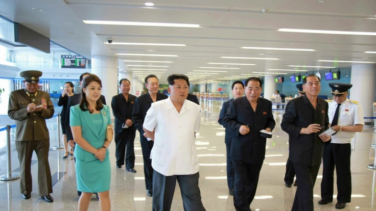 Kim Jong Un bei der Einweihung des neuen Flughafens in Pjöngjang. (Foto)