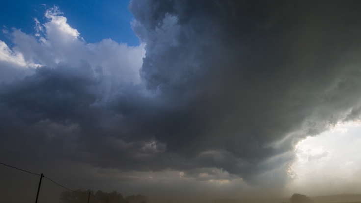 Deutschland wird derzeit von massiven Stürmen und Unwettern heimgesucht.