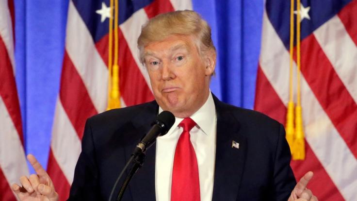 Donald Trump hat sich noch nicht zu den umfassenden Vorwürfen des Hacker-Netzwerkes geäußert. (Foto)