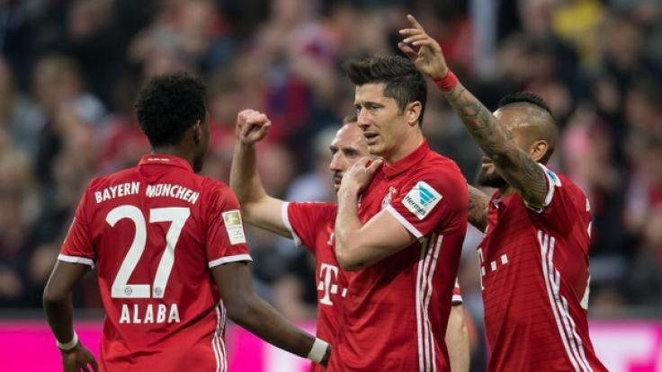 FC Bayern München hatte am Samstagabend (8. April 2017) die Nase vorn gegen Borussia Dortmund.