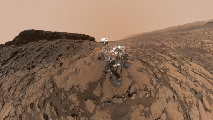 Der Mars-Rover Curiosity hat spektakuläre Aufnahmen gemacht.