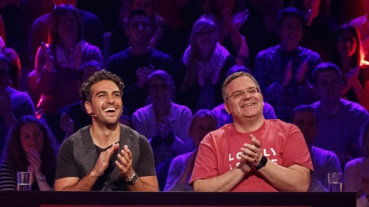 Elyas M'Barek und Elton. (Foto)