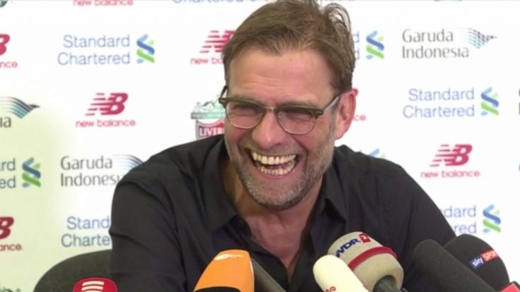 Htte auf der einstündigen Pressekonferenz vor deutschen Journalisten sichtlich Spaß: Liverpool-Coach Jürgen Klopp.