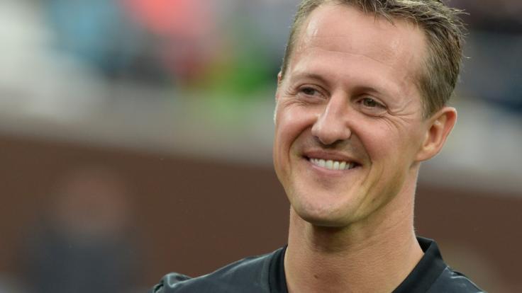 Michael Schumacher besuchte die Fußball-Nationalmannschaft 2006.