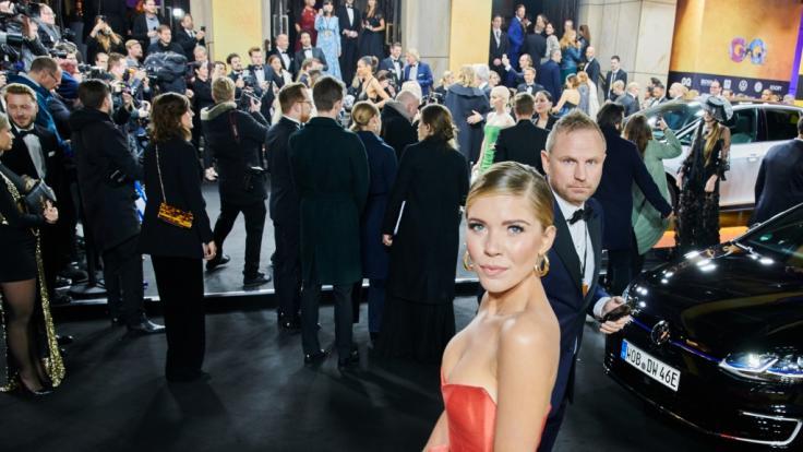 Victoria Swarovski trug ein Kleid von mark Bumgarner. (Foto)