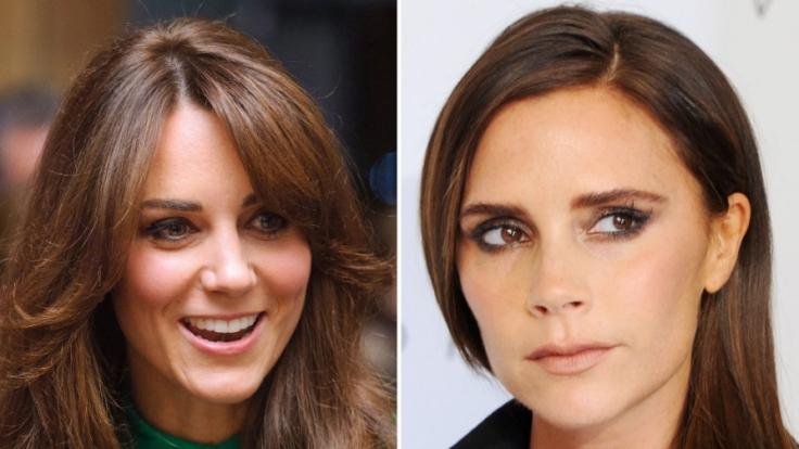 Herzogin Kate (links) und Victoria Beckham haben ihre ganz eigenen Schönheitsgeheimnisse.