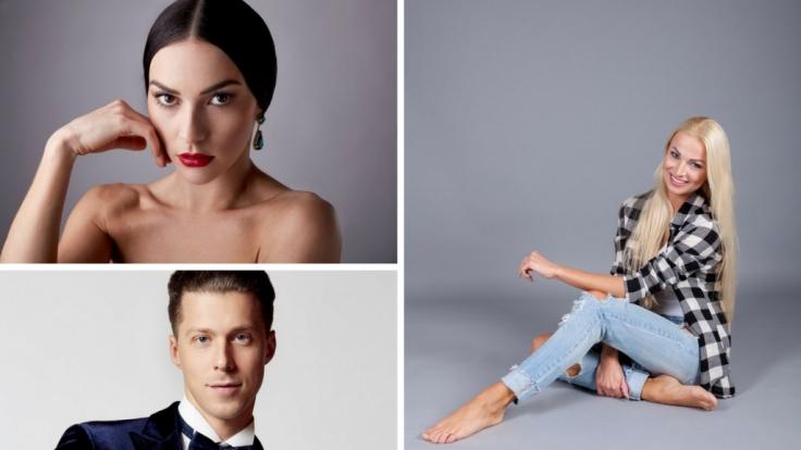 Katja Kalugina, Renata Lusin und Valentin Lusin sind bei