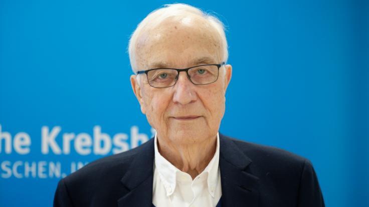 Der Journalist und ehemalige Präsident der Deutschen Krebshilfe Fritz Pleitgen nach einer Pressekonferenz. (Foto)