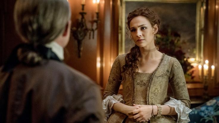 Die brünette Sophie Skelton färbte sich für ihre Rolle derBrianna Randall die Haare rot, um als Tochter der Hauptfiguren glaubwürdiger zu wirken. (Foto)