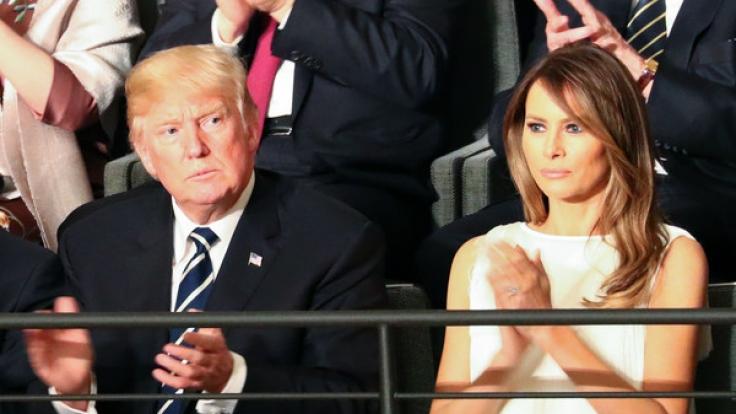 Immer im Blick der Öffentlichkeit: Donald und Melania Trump. (Foto)