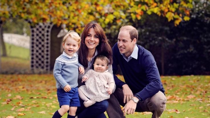 Herbstliche Weihnachtsgrüße von William und seiner Familie. (Foto)