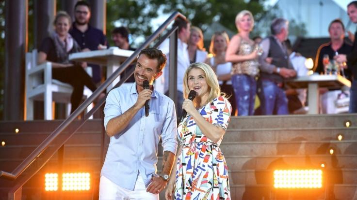Florian Silbereisen und Beatrice Egli bei der großen Klubbb3 Strandparty auf Mallorca.