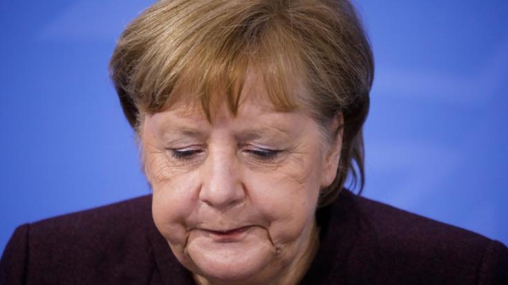 Angela Merkel traf sich am Mittwoch in einer Video-Schalte mit den Ministerpräsidenten der Länder. (Foto)