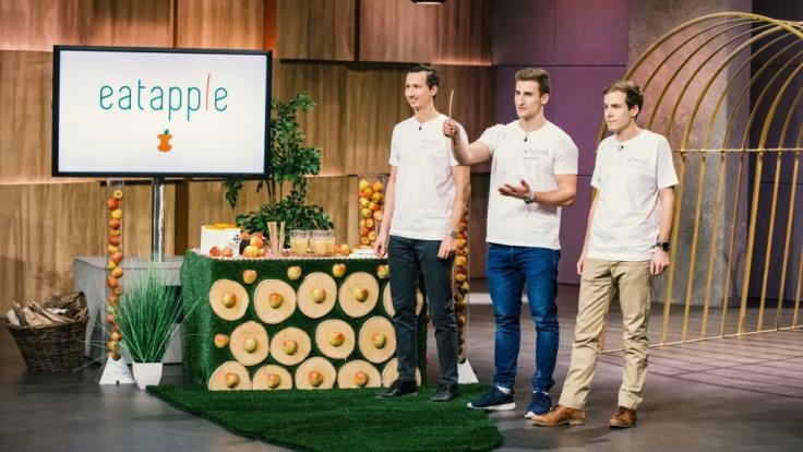 """Bei """"DHDL"""" erhoffen sich die Erfinder des essbaren Strohhalms """"Eatapple"""" eine Investition von 200.000 Euro. (Foto)"""