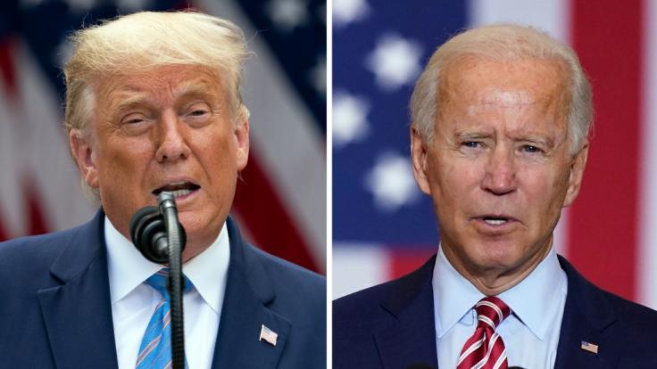 Alle Infos rund um das TV-Duell zwischen Trump und Biden bei news.de. (Foto)
