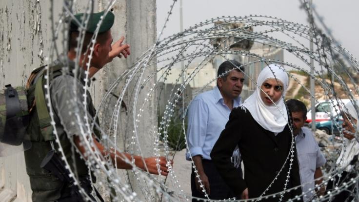 Grenzübergang zwischen Israel und den Palästinensergebieten. (Foto)