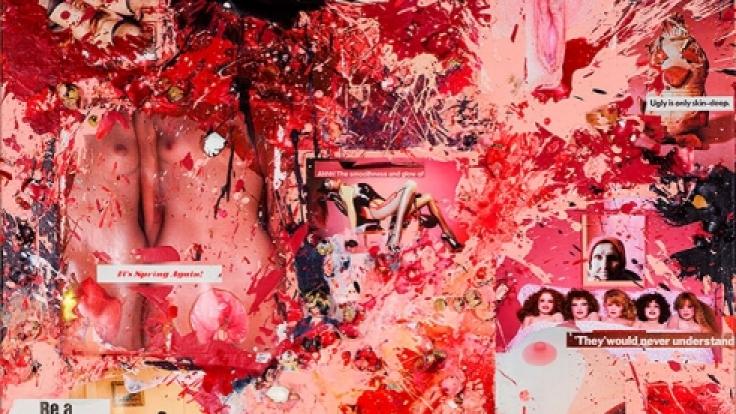 Für diese Gemälde verwendet Milo Moiré nur Bio-Eier. (Foto)