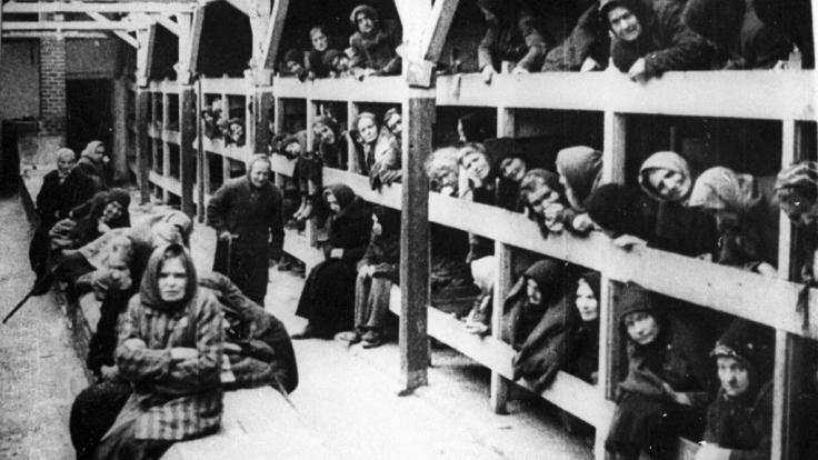 Häftlinge im KZ Auschwitz-Birkenau.