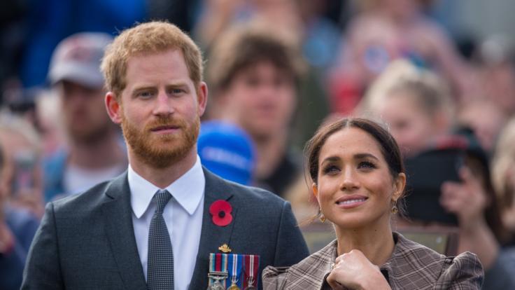 Prinz Harry und seine Ehefrau Meghan freuen sich auf ihr erstes Kind. (Foto)