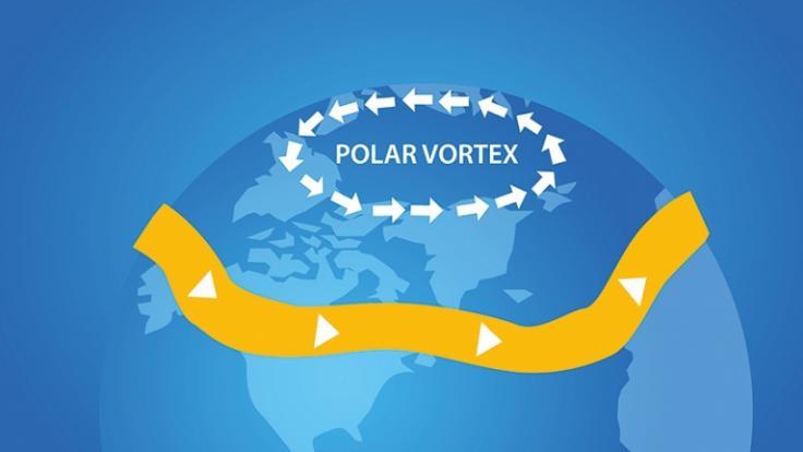 Laut Meteorologen droht der Polarwirbel zusammenzubrechen. (Foto)