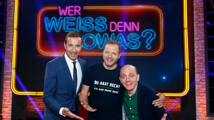 Von links: Kai Pflaume, Mario Barth und Bernhard Hoëcker. (Foto)