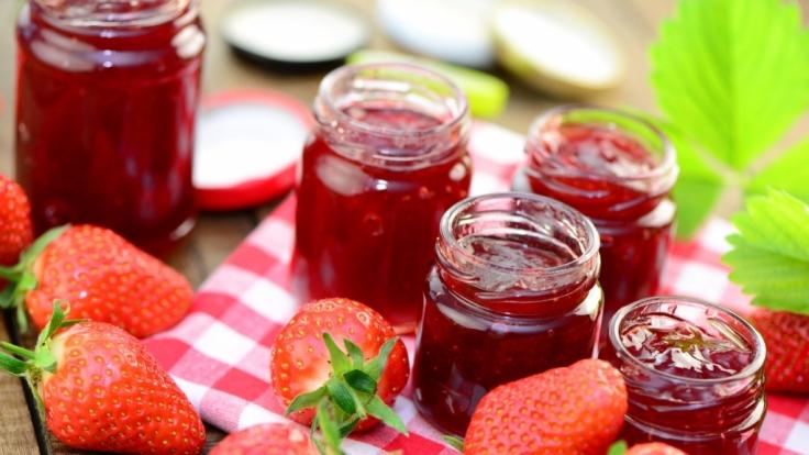 Die meisten Erdbeerkonfitüren sind viel zu süß. (Foto)