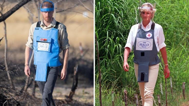 Prinz Harry wandelte in Angola auf den Spuren seiner Mutter Prinzessin Diana.