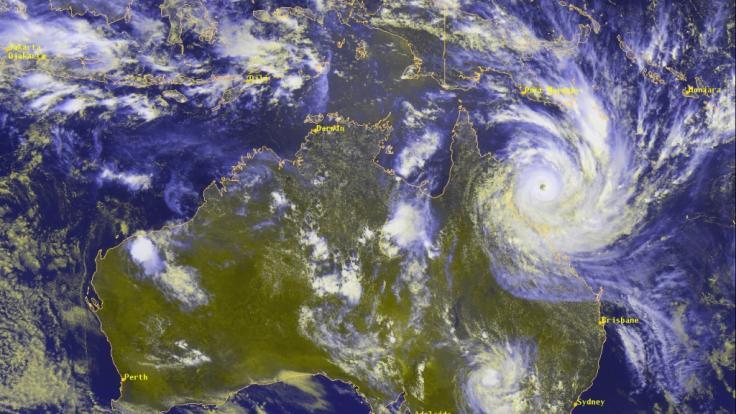 2010 wurde Australien vom Zyklon