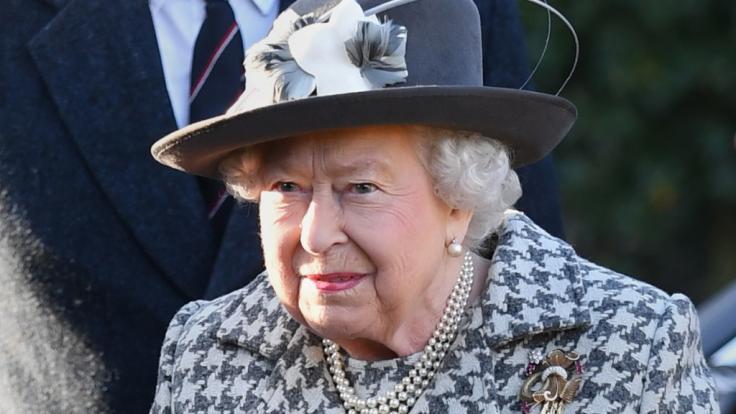 Queen Elizabeth II. stand in Windsor tatsächlich vor verschlossenen Türen. (Foto)