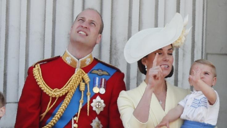 Royaler Hingucker: Prinz Louis.