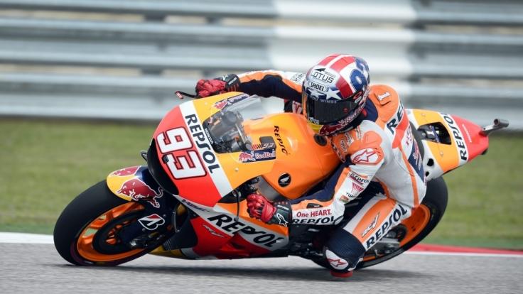 Großer Preis von Argentinien 2015: MotoGP-Weltmeister Marc Marquez ging einmal mehr als Favorit ins Rennen. (Foto)