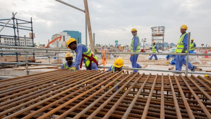Bauarbeiten zur Fußball-WM 2022 in Katar: Schwere Vorwürfe gegen WM-Gastgeber Katar (Foto)