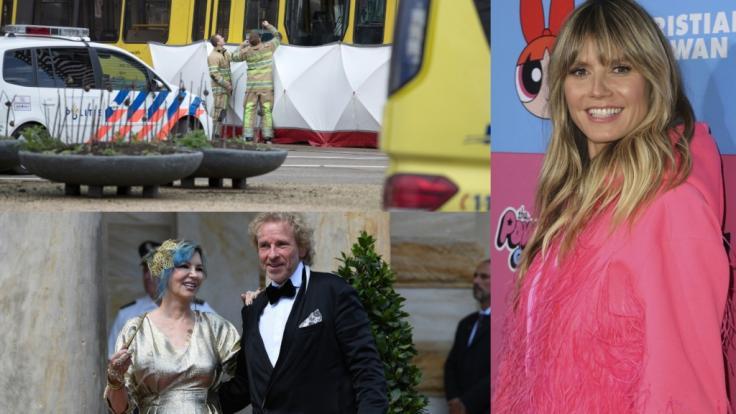 Schießerei in Utrecht, Trennung bei Thomas Gottschalk, angebliche Schwangerschaft bei Heidi Klum - DIESE Nachrichten bewegten die Welt am 18. März.