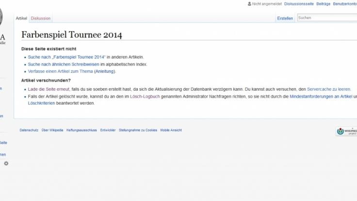 Helene Fischer findet bei Wikipedia einfach nicht statt.