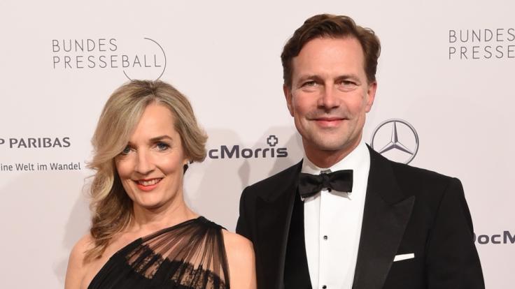 Sophia und Steffen Seibert beim 67. Bundespresseball 2018 in Berlin.