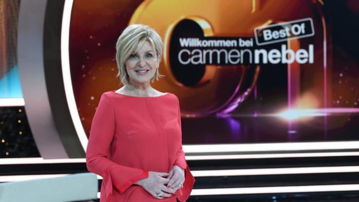 """Moderatorin Carmen Nebel lässt in """"Willkommen bei Carmen Nebel - Best of"""" das Jahr 2018 musikalisch Revue passieren. (Foto)"""