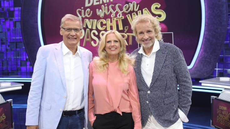 Das Moderatoren-Trio Günther Jauch, Barbara Schöneberger und Thomas Gottschalk.